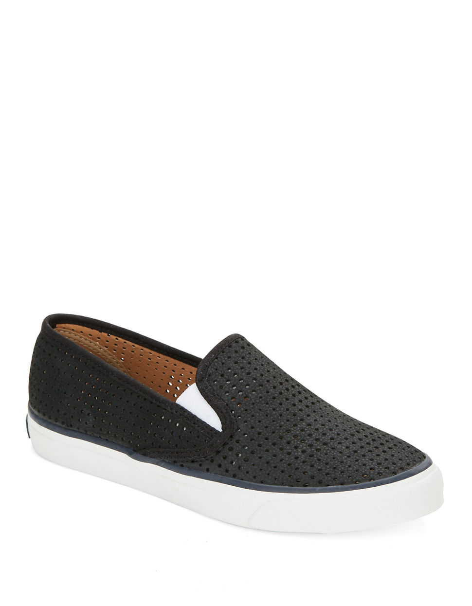 Lyst Sperry Top Sider Seaside Perforated Leather Slip On
