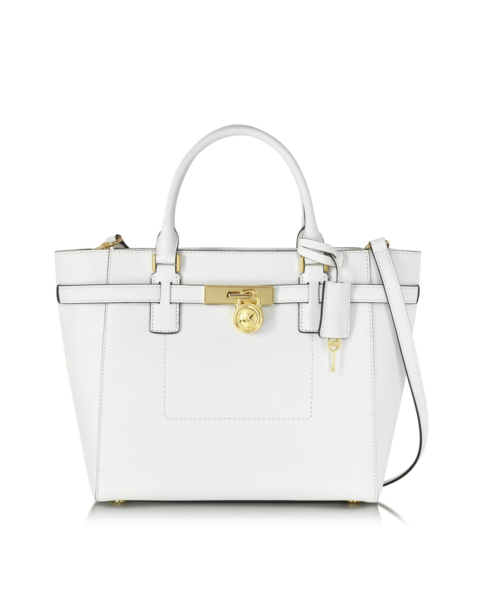 7f947508e06d Lyst - Michael Kors Hamilton Saffiano Leather Large Top Zip Tote Bag ...