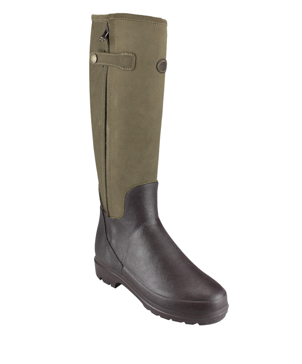 le chameau leather wellington boots in beige lyst