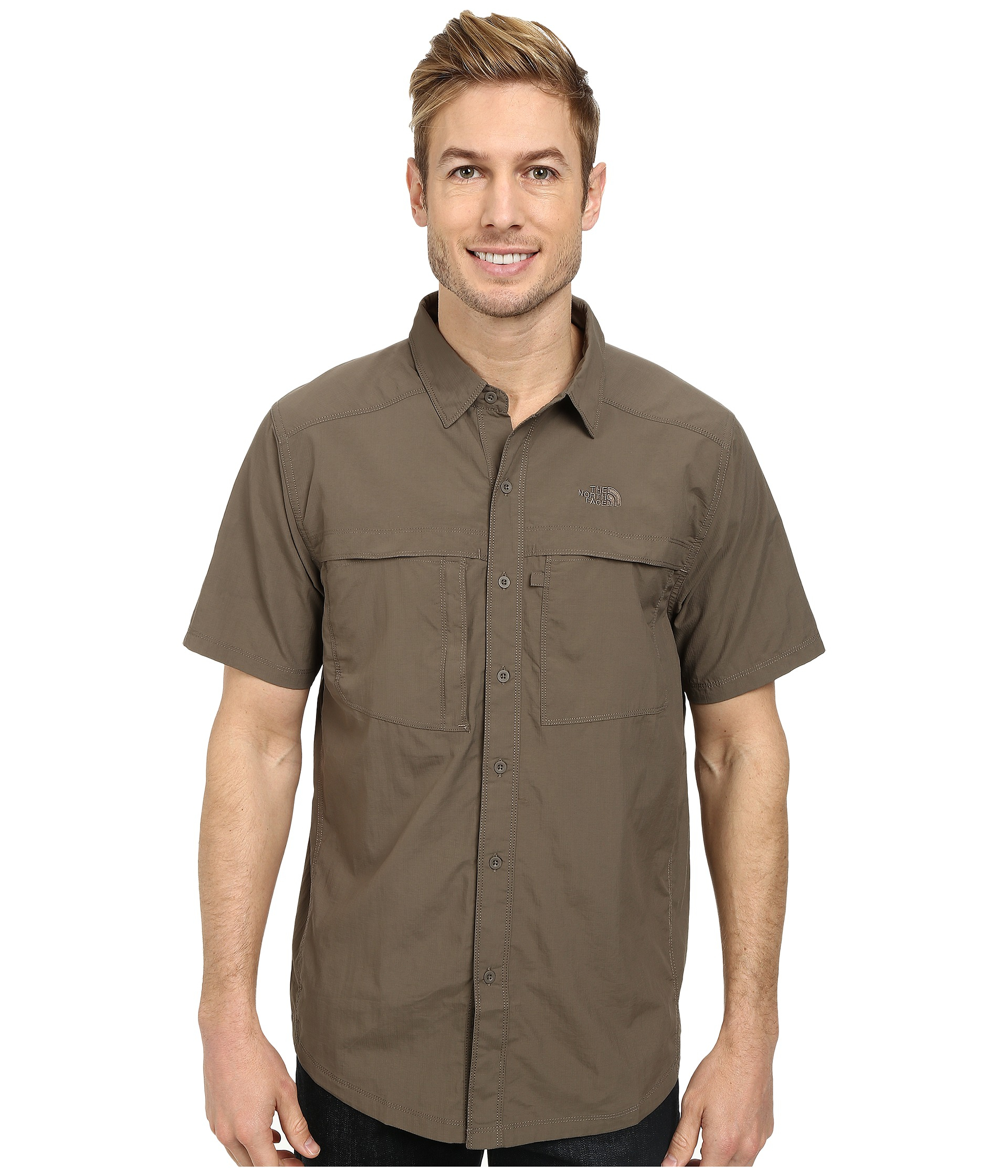 The North Face Mens Long Sleeve Cool Horizon Shirtr Weimaraner Brown - Shirts & Tops