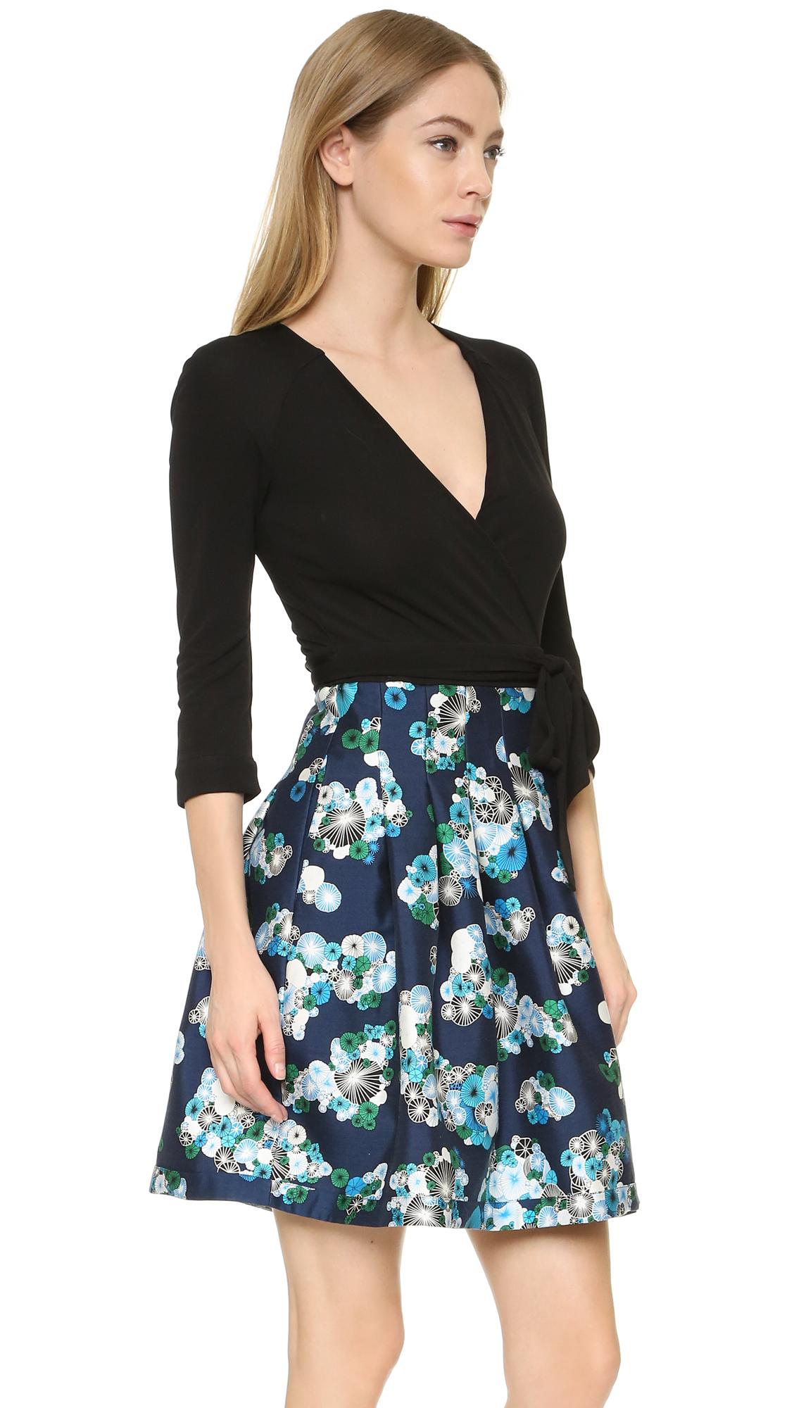 Lyst Diane Von Furstenberg Short Dress In Black
