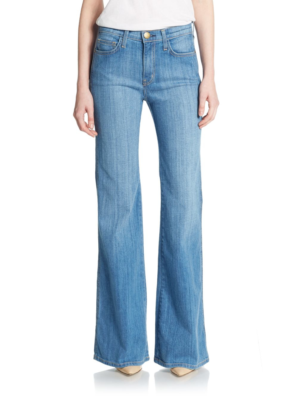 Current/elliott Girl Crush Wide-leg Jeans in Blue | Lyst