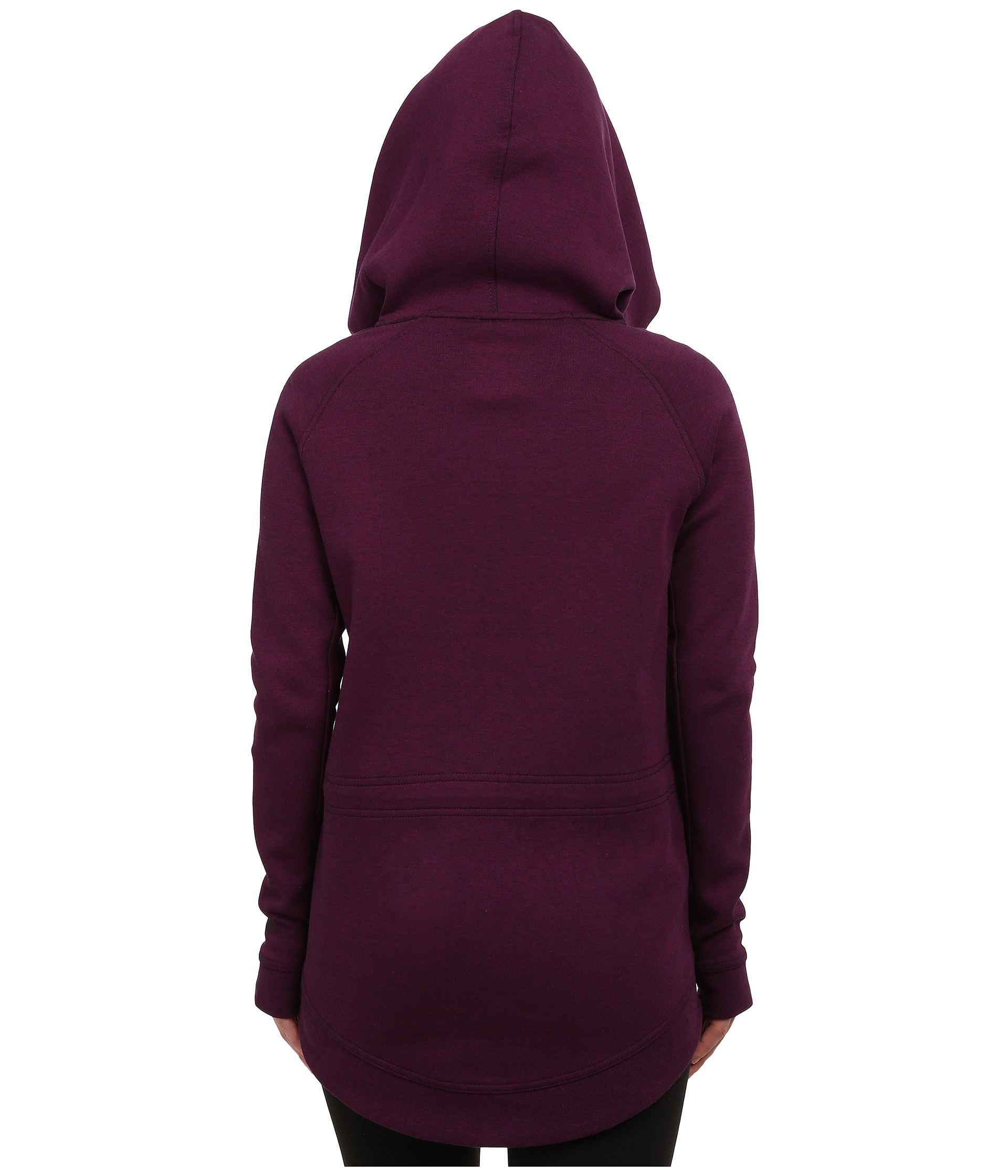 lyst nike tech fleece cape in purple. Black Bedroom Furniture Sets. Home Design Ideas