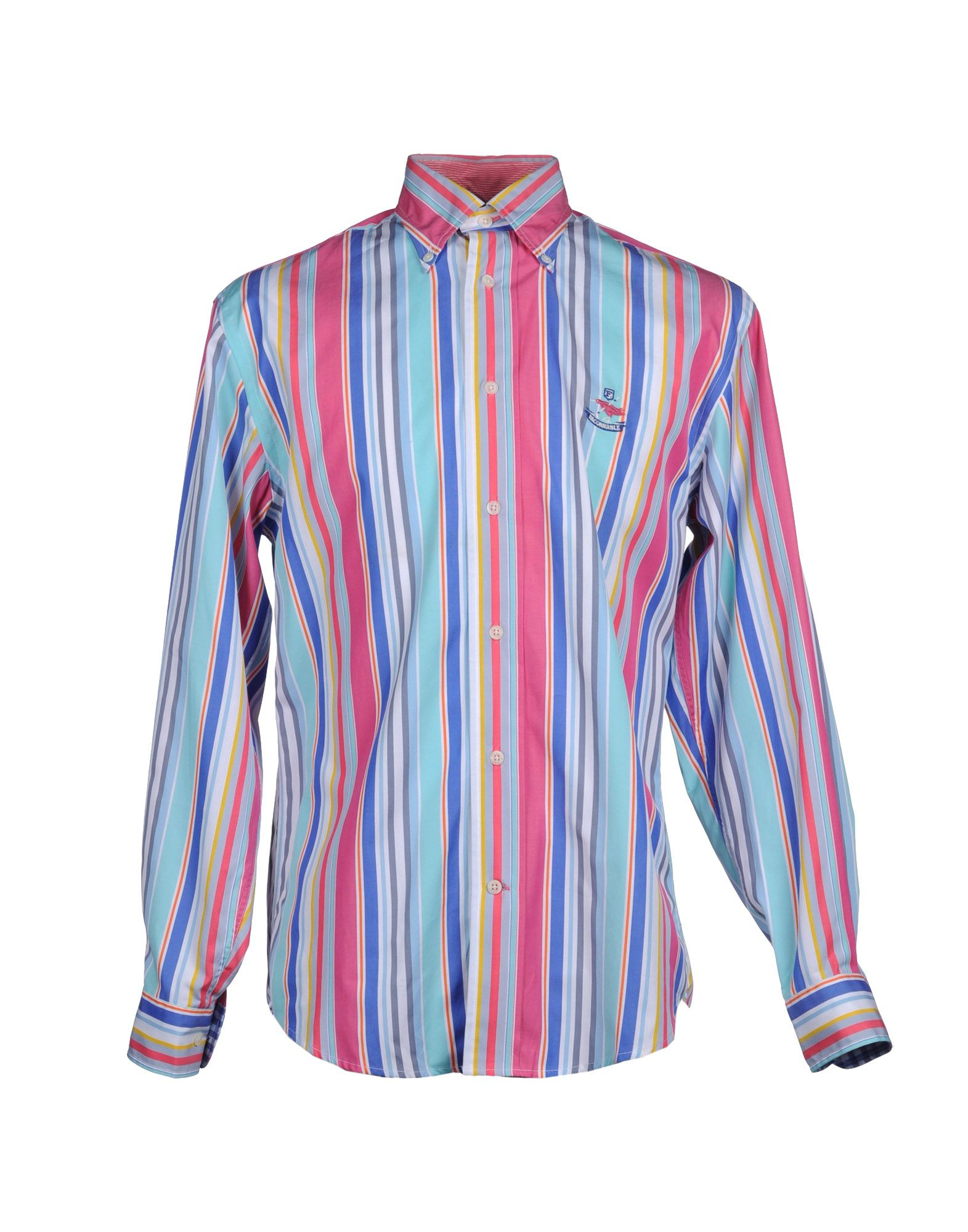 Faconnable shirt in pink for men pastel pink lyst for Pastel pink dress shirt