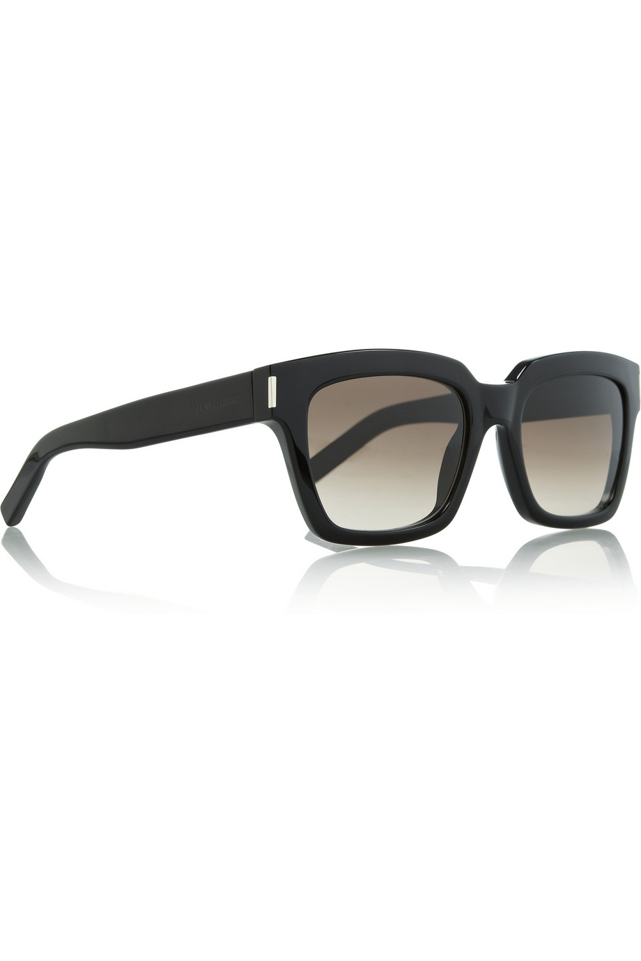 931f3c9f5cc Lyst - Saint Laurent Bold Square-Frame Acetate Sunglasses in Black
