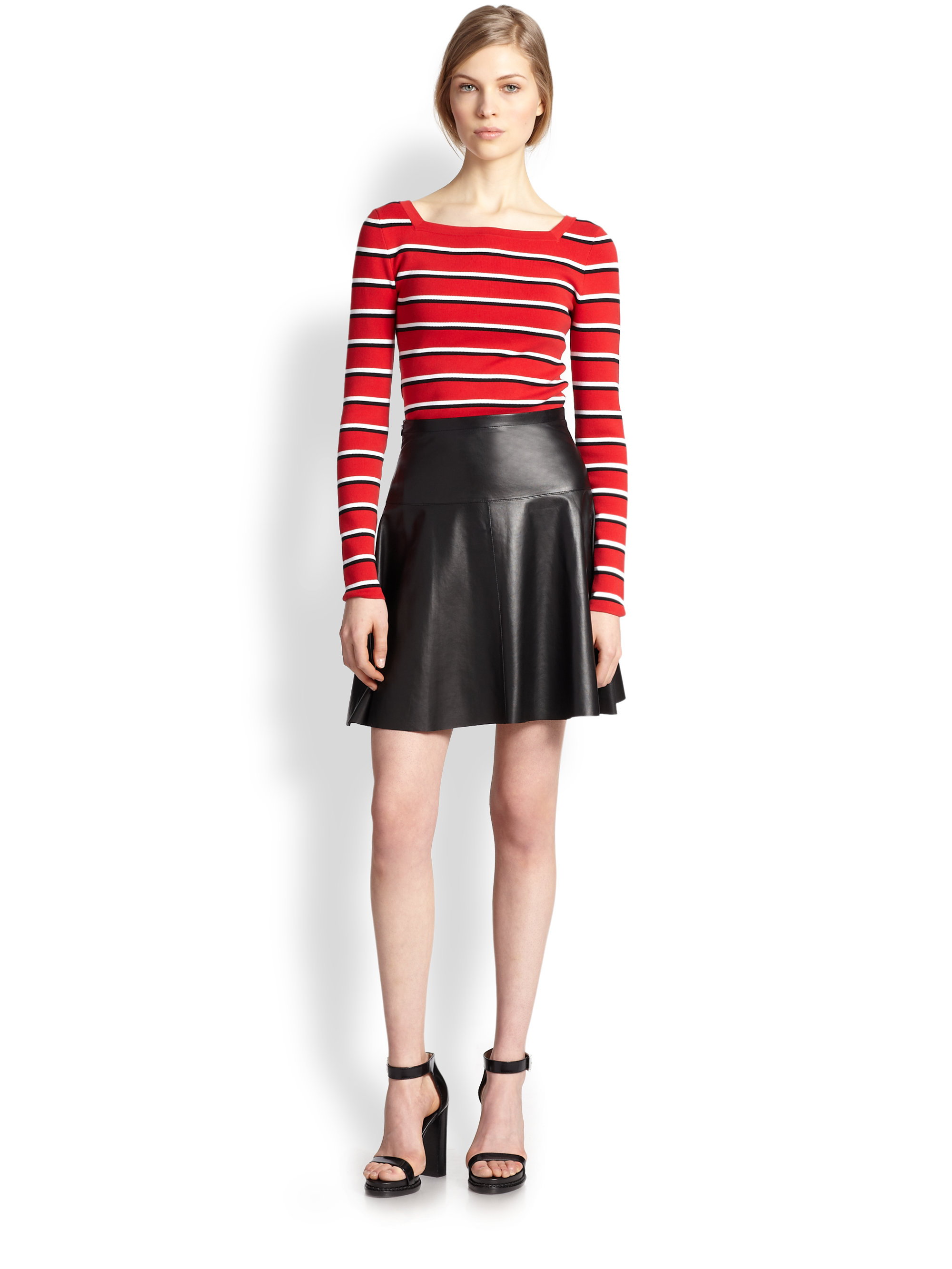 ASOS DESIGN Tall leather look mini skirt with pockets zips and poppers. $ ASOS DESIGN leather look mini skirt with gathered waist and belt. $ New Look Leather Look Mini. $ ASOS DESIGN Tall sculpt me leather look midi skirt. $ Noisy May Leather Look Skirt. $