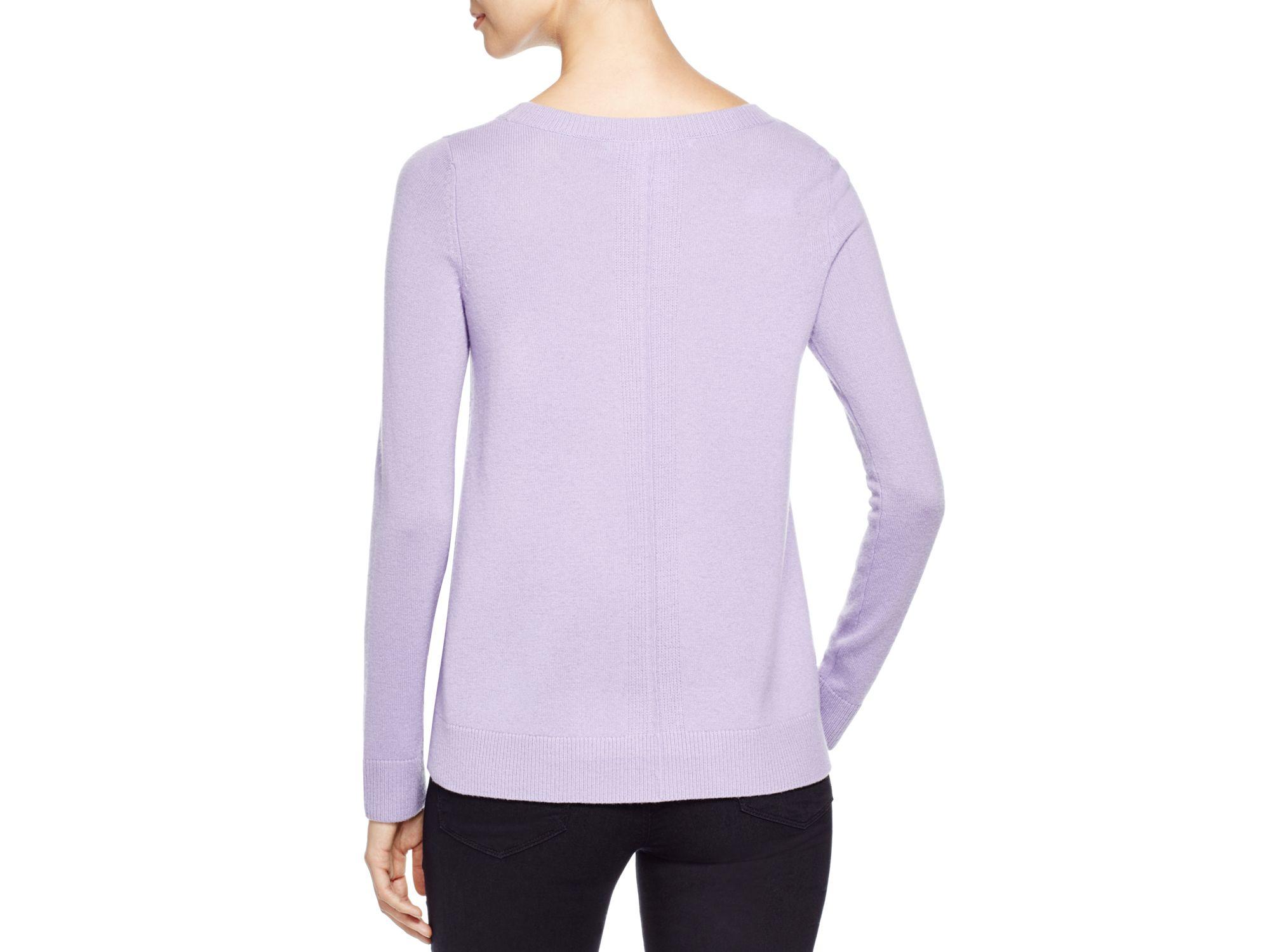 Diane von furstenberg Zandra Cashmere Sweater in Purple | Lyst