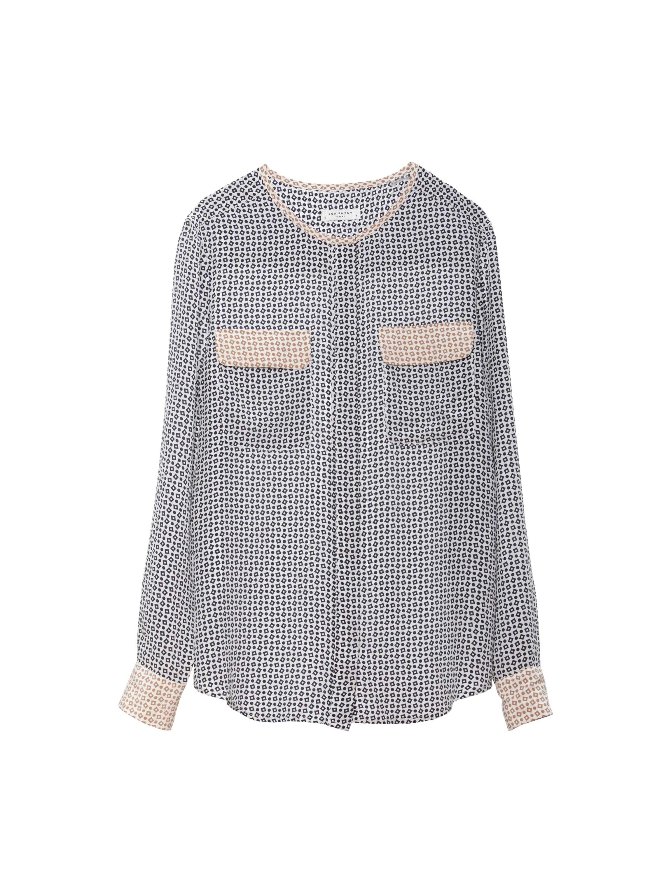 276fcff5fea4bf Equipment Slim Fit Silk Shirt In Pink Lyst