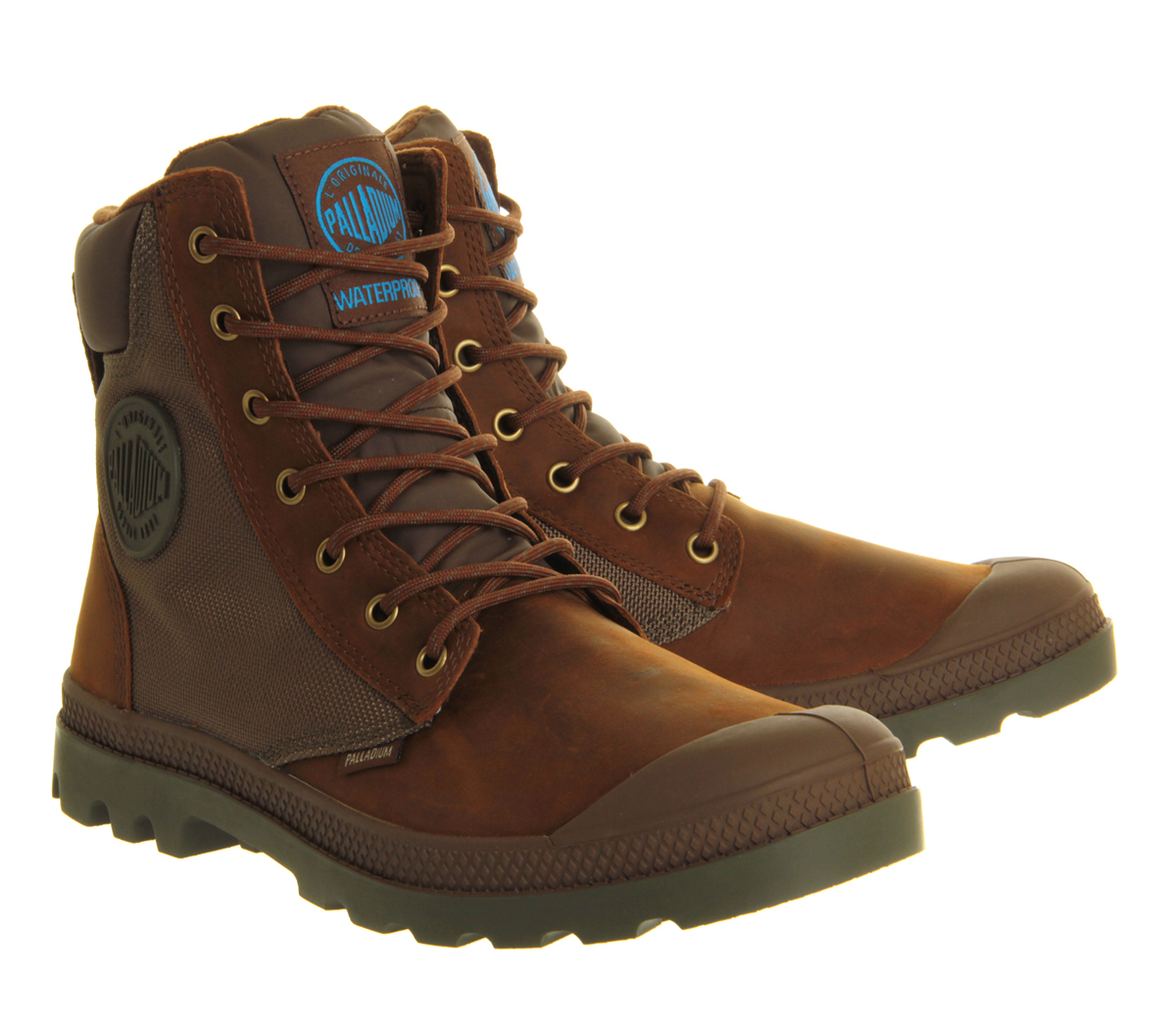 palladium pa sport cuff wp2 boots in brown for lyst