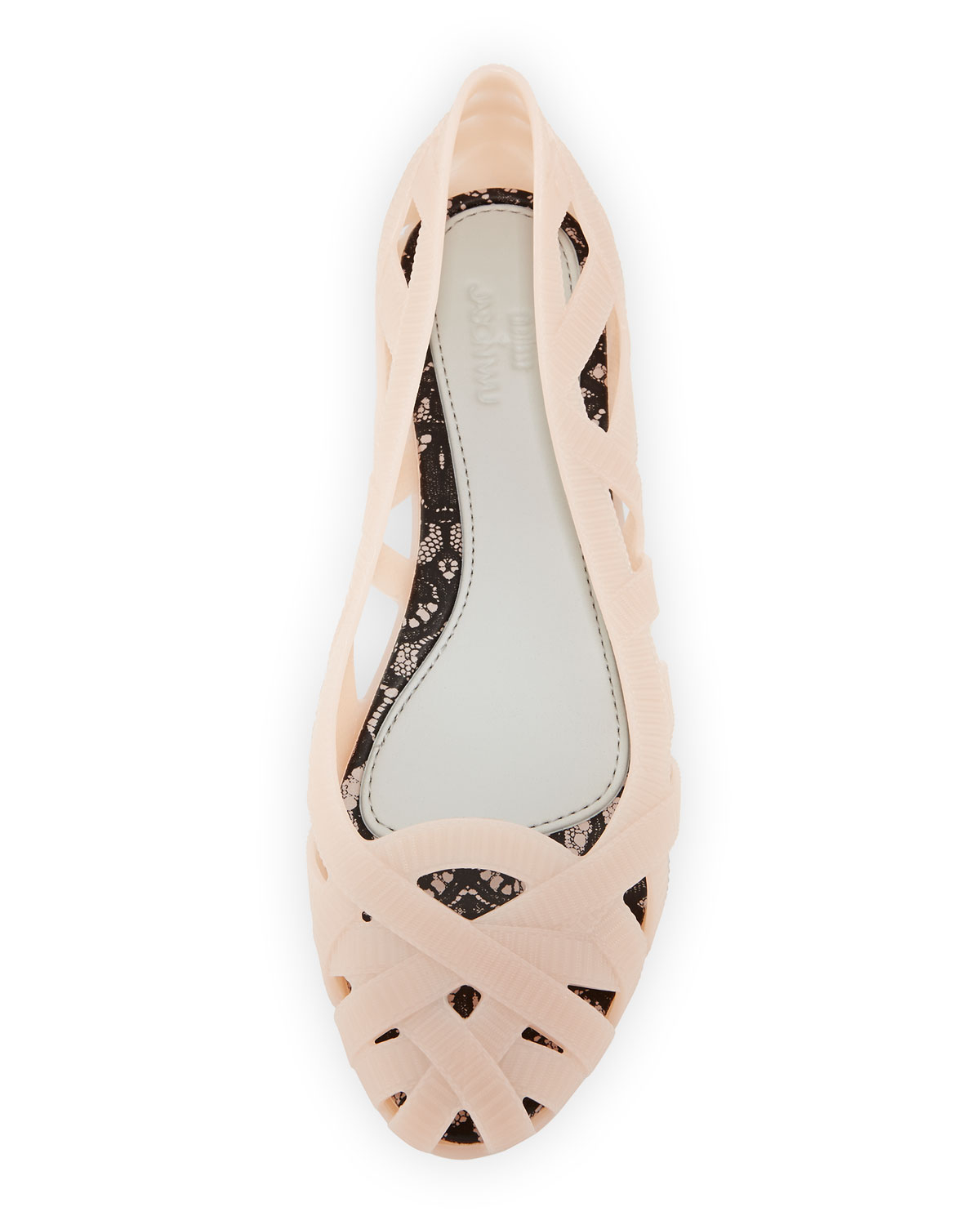 711e0a9c0a2 Lyst - Melissa Jean + Jason Wu Iii Cutout Jelly Flat in Natural