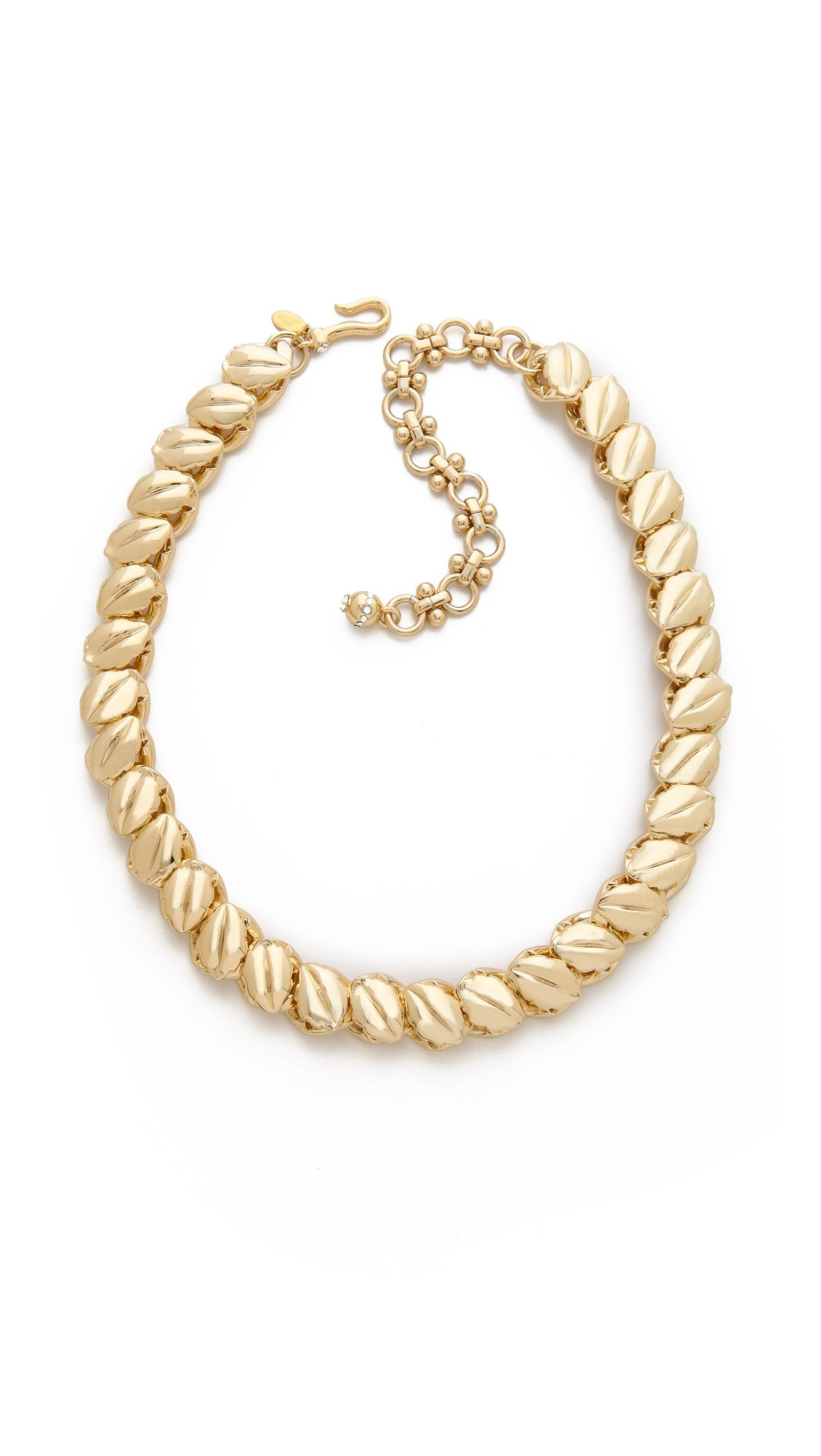 Sole Society Womens Textured Overd Chain Necklace Gold One Size From Sole Society 18LHqD