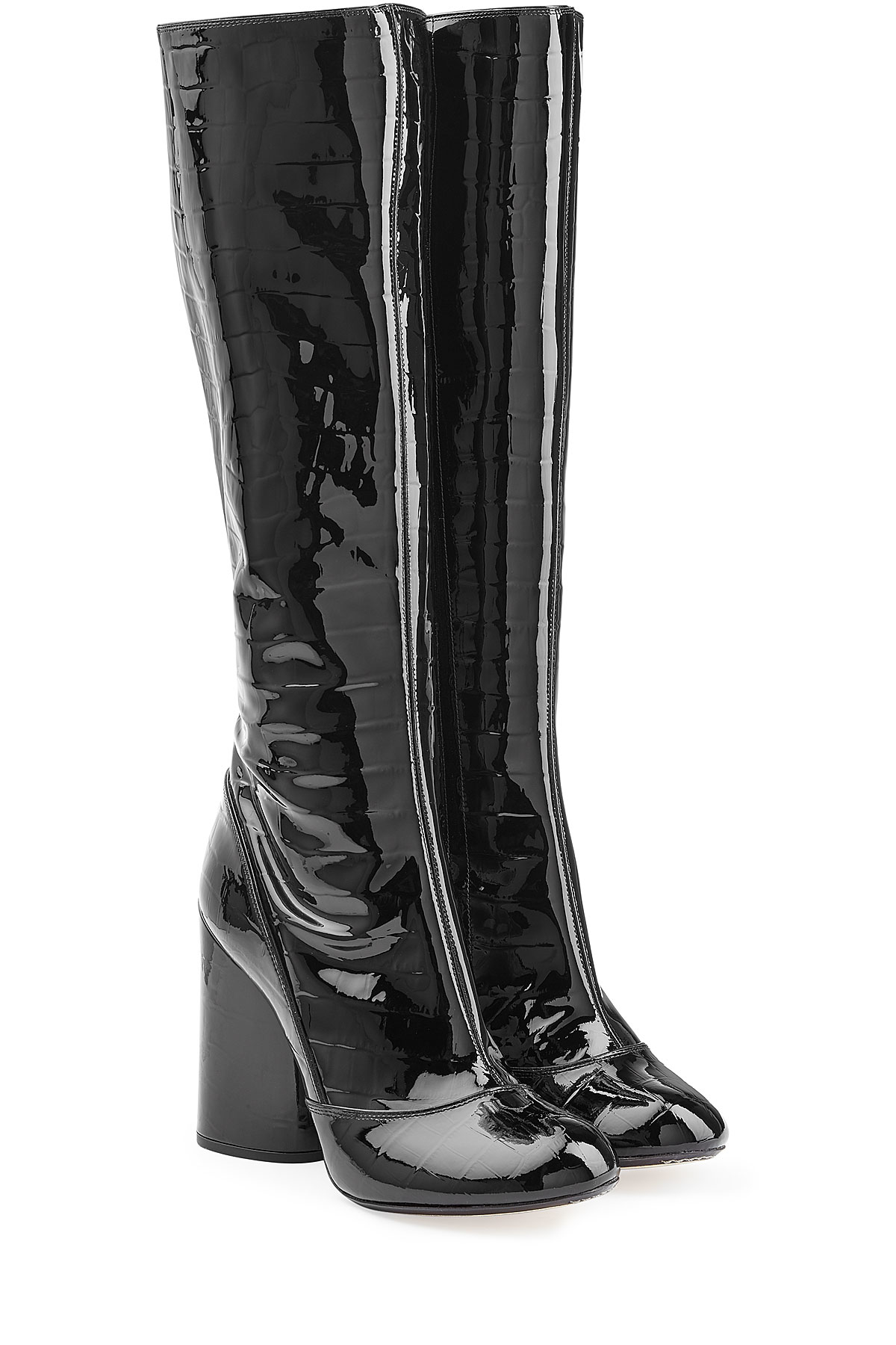 Lyst Marc Jacobs Embossed Patent Leather Knee Boots