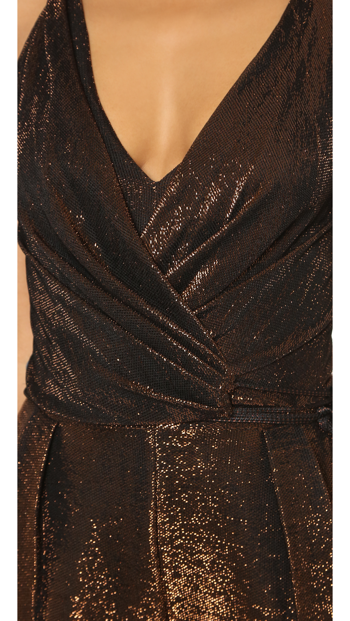 18d891a41d2 Lyst - Kempner Sienna Jumpsuit - Copper Metallic in Metallic