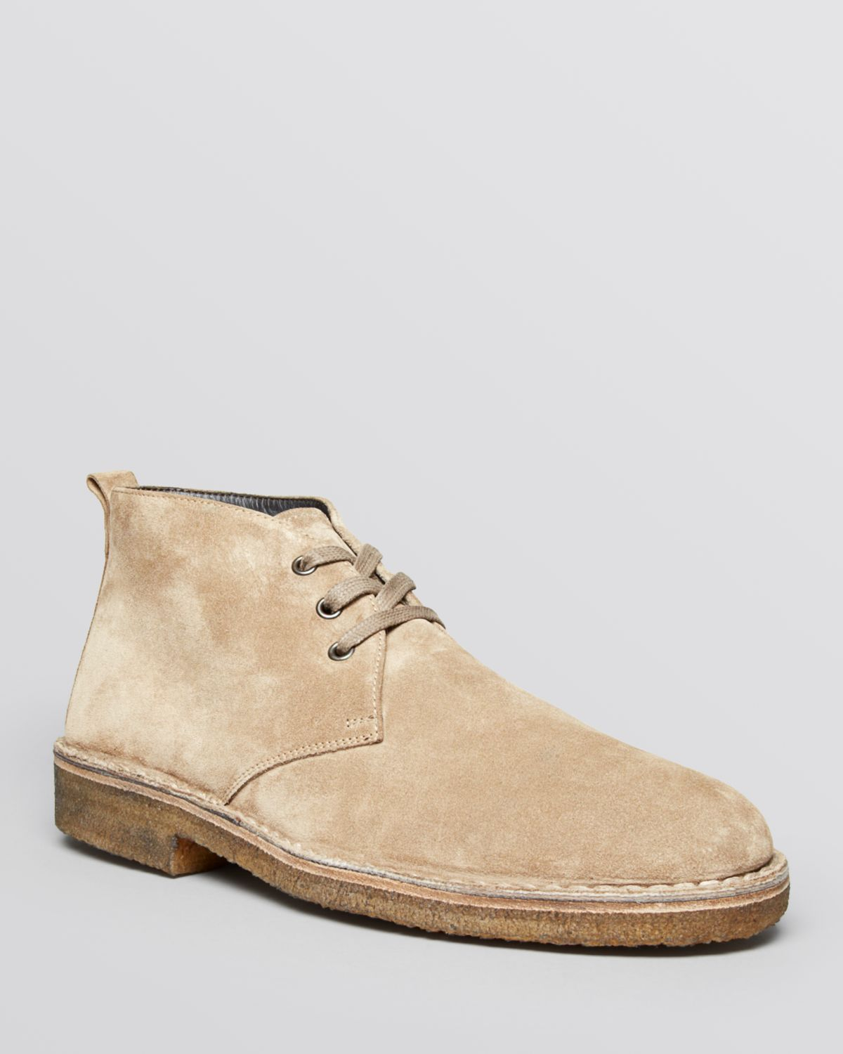 Vince Lawrence Suede Chukka Boots in Natural for Men | Lyst