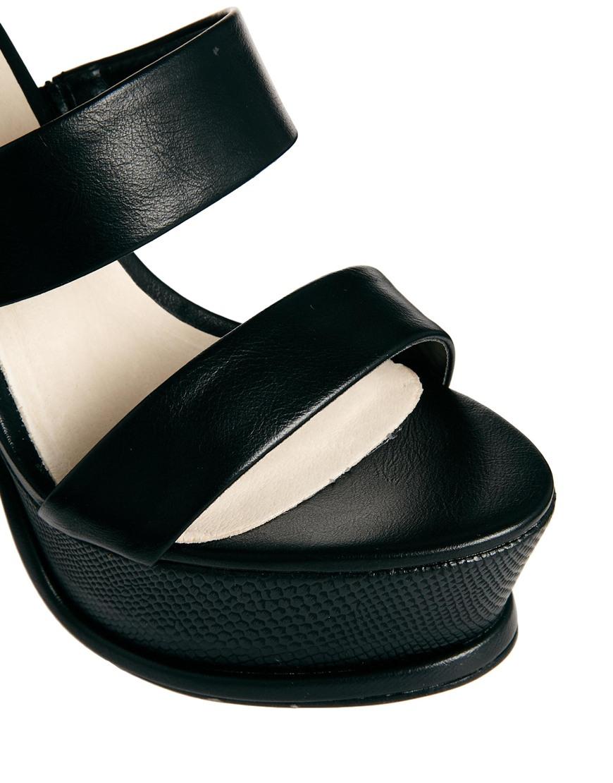 7dd69fff0ee Lyst - ALDO Grayvia Platform Triple Strap Platform Heeled Sandals in ...