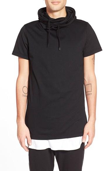 Antony morato Longline Hooded Short Sleeve T-shirt in Black for ...