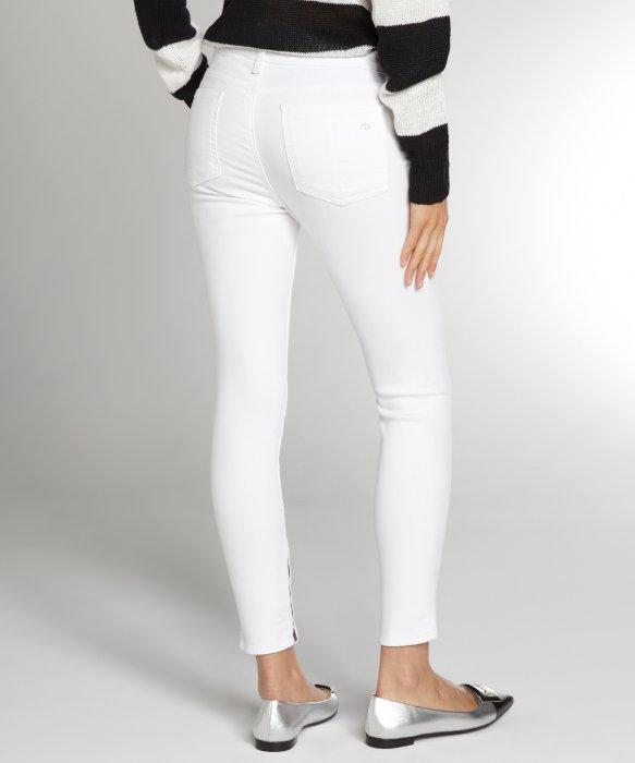 Rag & bone White Denim Ankle Zip Capris in White | Lyst