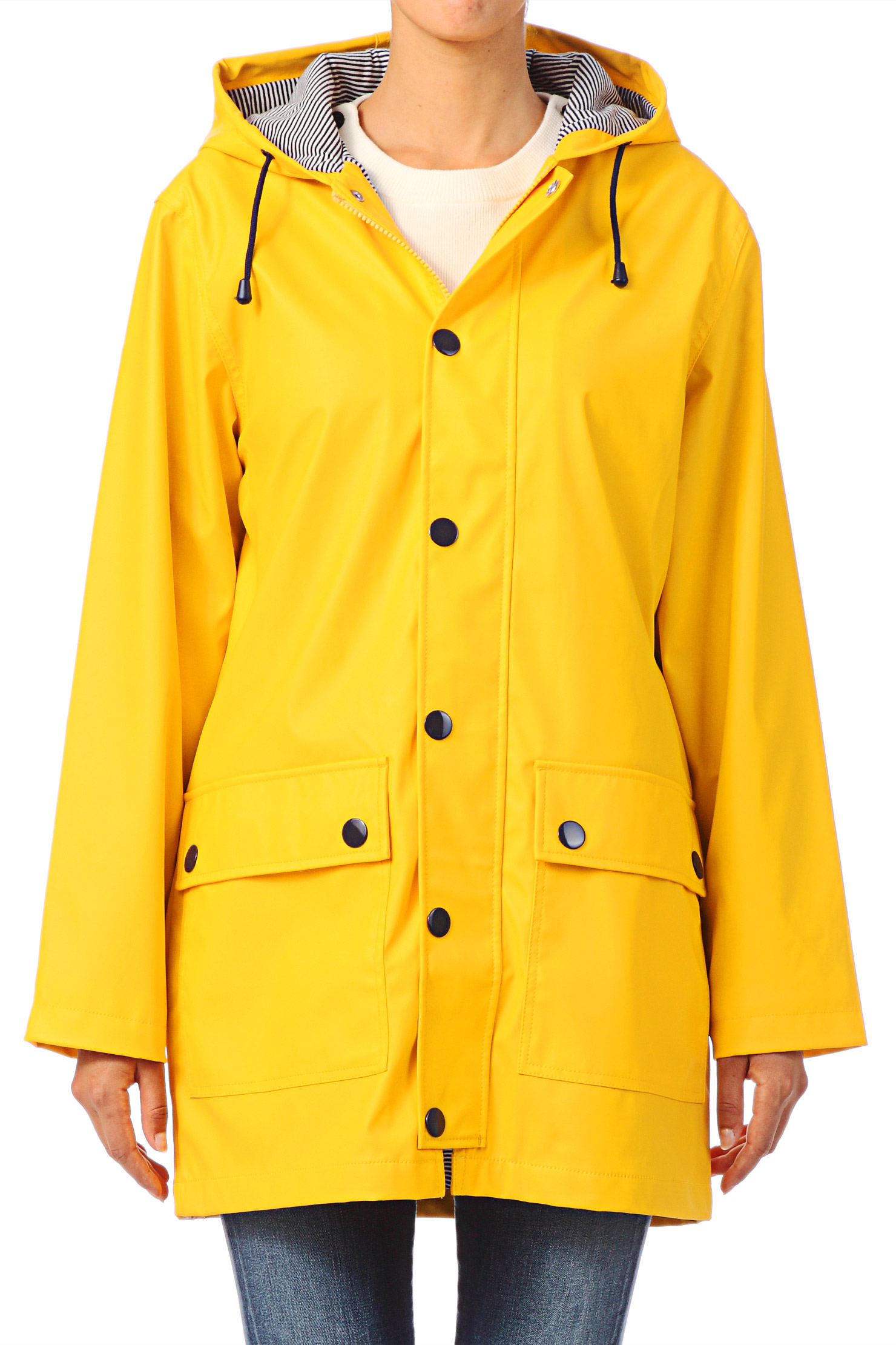 Womens Yellow Rain Coat - Coat Racks