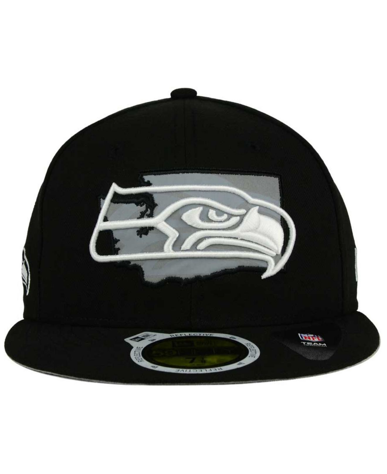 66a7f152f3c ... denmark lyst ktz seattle seahawks state flective redux 59fifty cap in  a3e31 97132