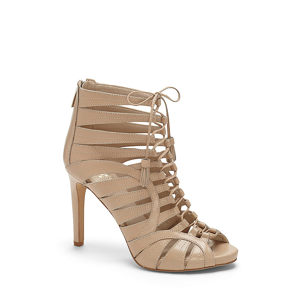 3c8d3be60d11 Lyst - Vince Camuto Narrital - Strappy Lace Up Gladiator Heel in Natural