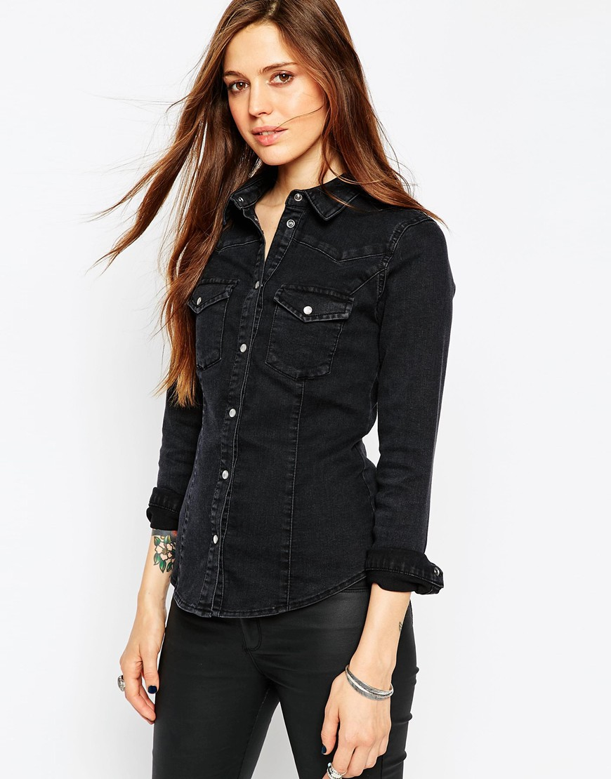 Shop for black denim shirt online at Target. Free shipping on purchases over $35 and save 5% every day with your Target REDcard.