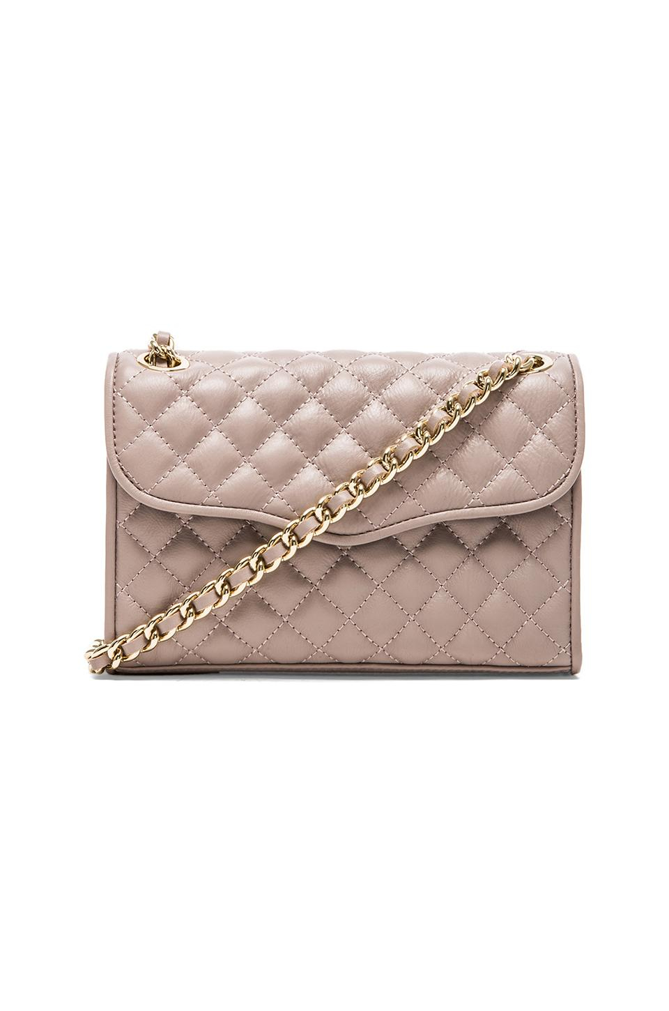 Rebecca Minkoff Quilted Mini Affair In Gray Tortora Lyst