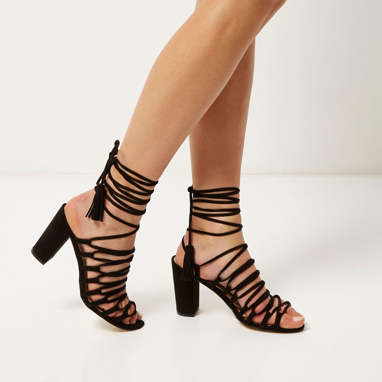 Lace Up Block Heel - Is Heel