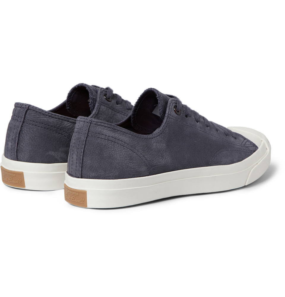 Converse jack purcell nubuck sneakers in gray for men lyst - Graue converse ...