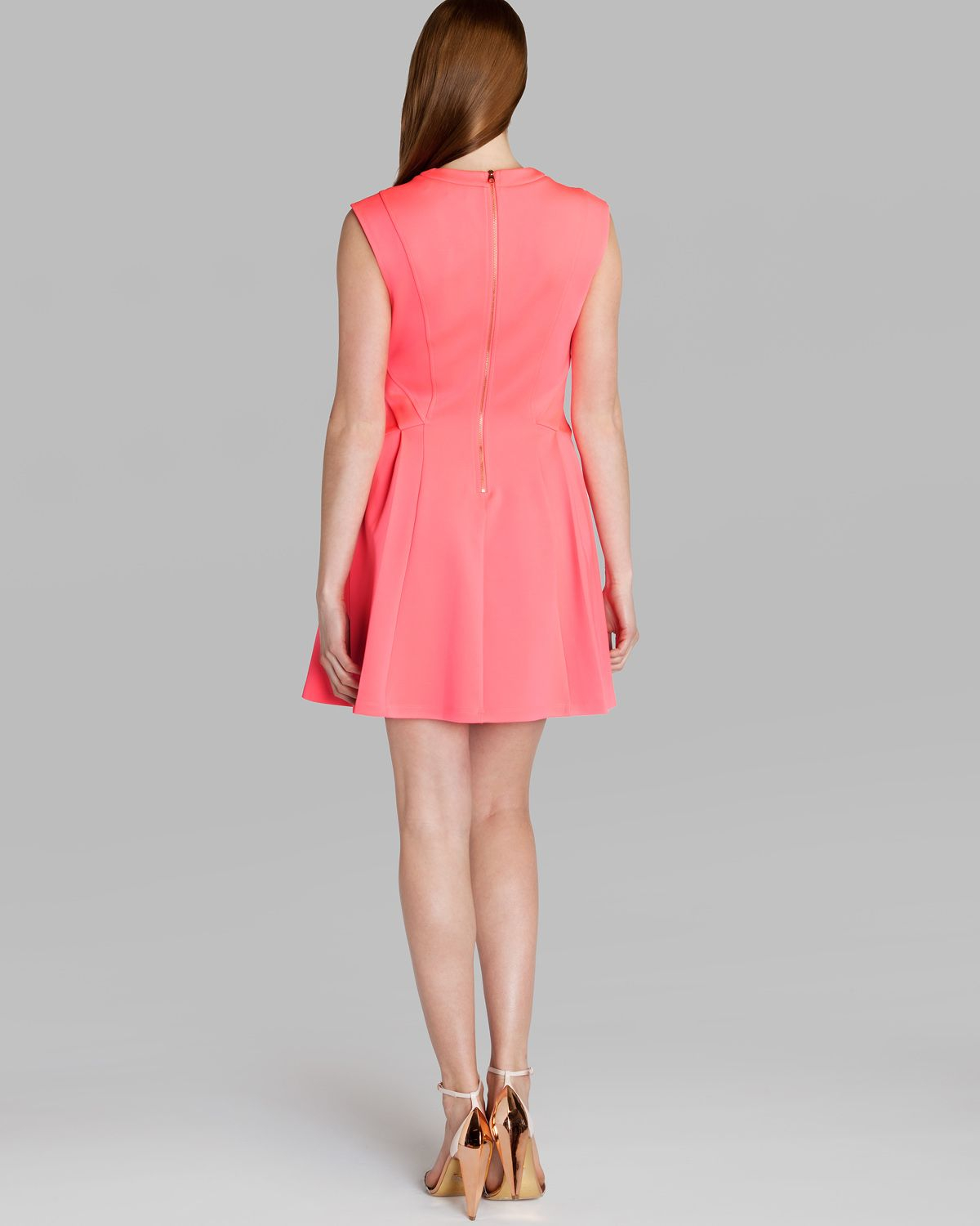 f6148dc151d7e0 Lyst - Ted Baker Dress Nistee Skater in Pink