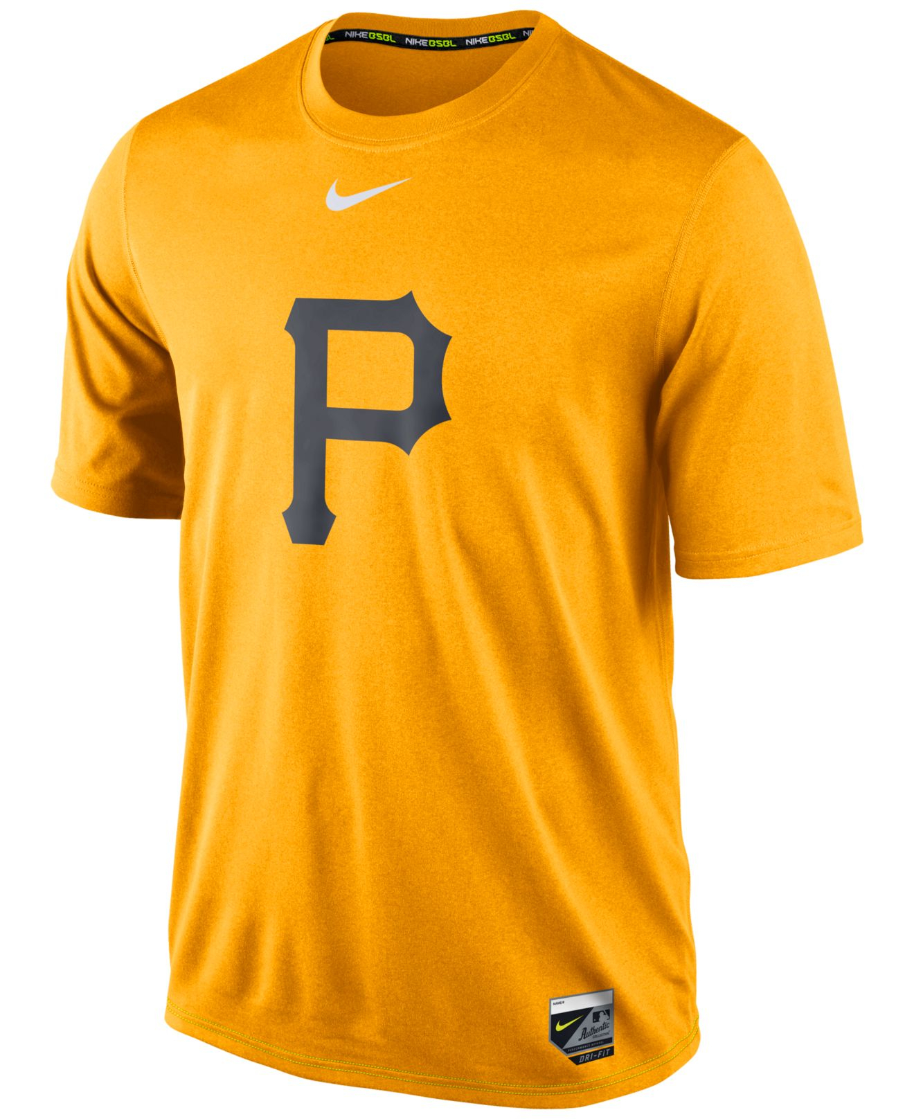 Lyst nike men 39 s pittsburgh pirates dri fit legend t for Dri fit dress shirts