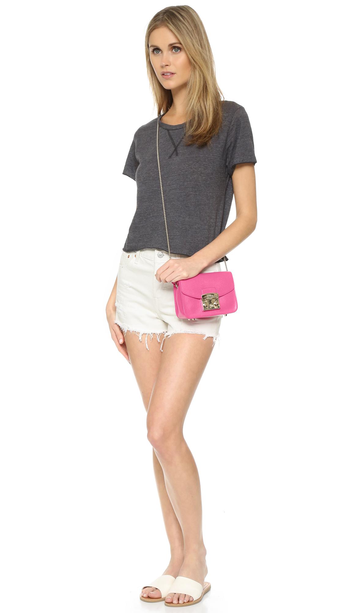 Furla Metropolis Mini Cross Body Bag In Pink Lyst