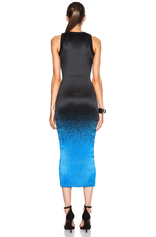 Lyst Alexander Wang Ribbed Micro Pleat Tank Dress In Black