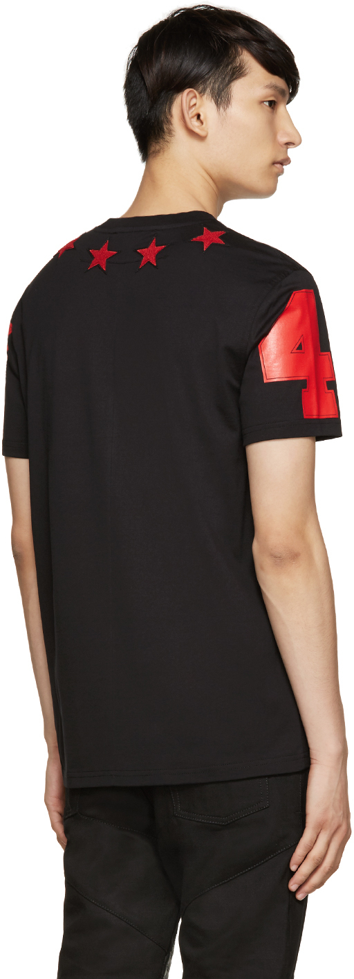 1f30b7ef34c3e Lyst - Givenchy Black   Red Stars T-shirt in Black for Men