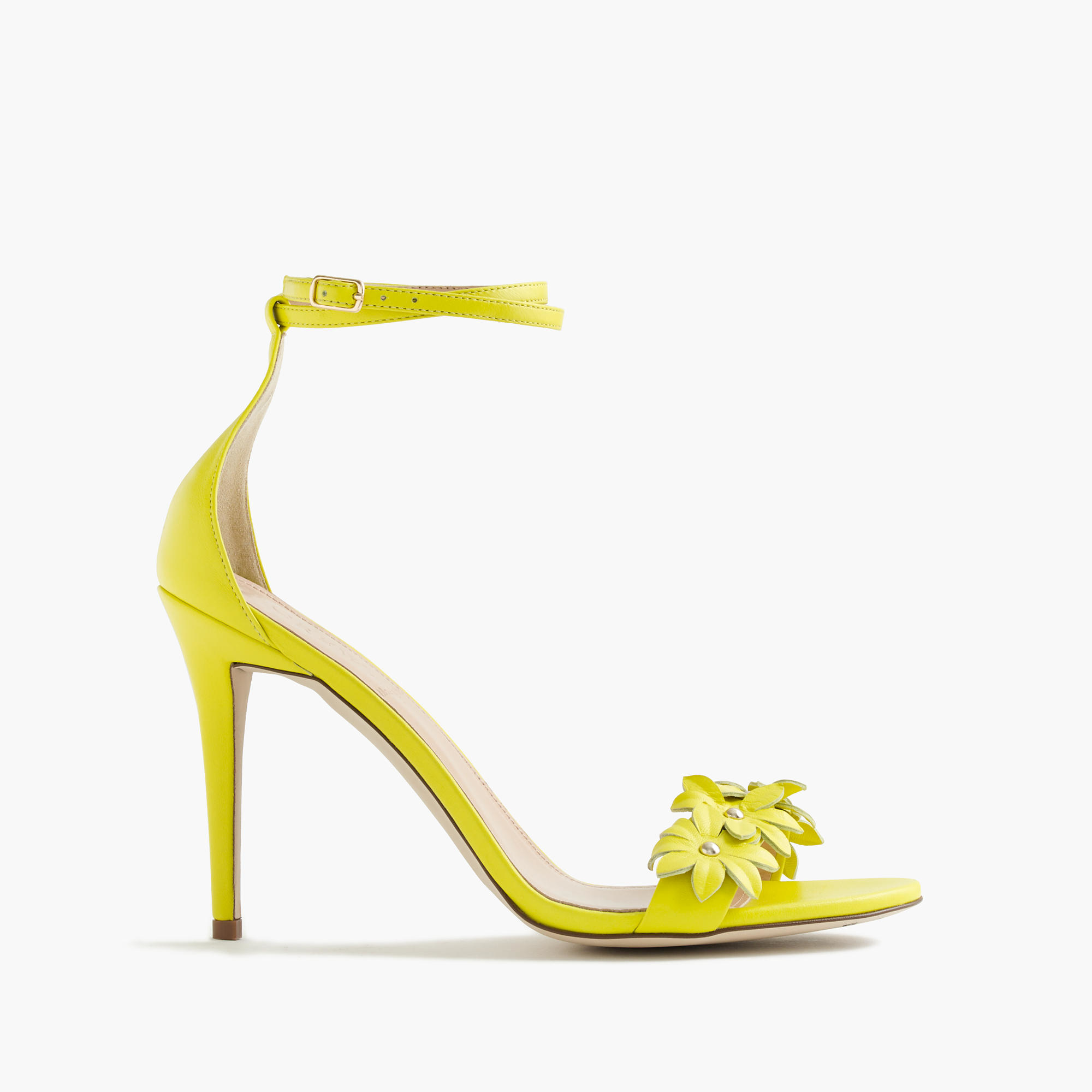 Lemon Yellow High Heel Court Shoes - Is Heel
