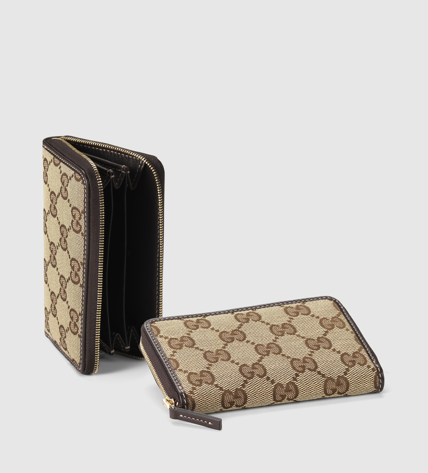 Gucci original gg canvas card case in natural lyst gallery magicingreecefo Images