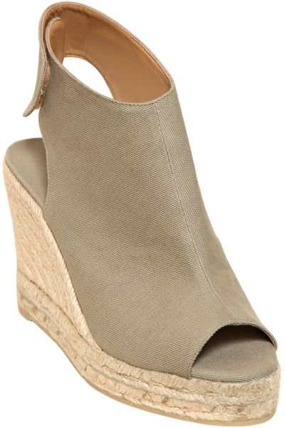 Open Toe Espadrille Wedge Open Toe Canvas Wedges in