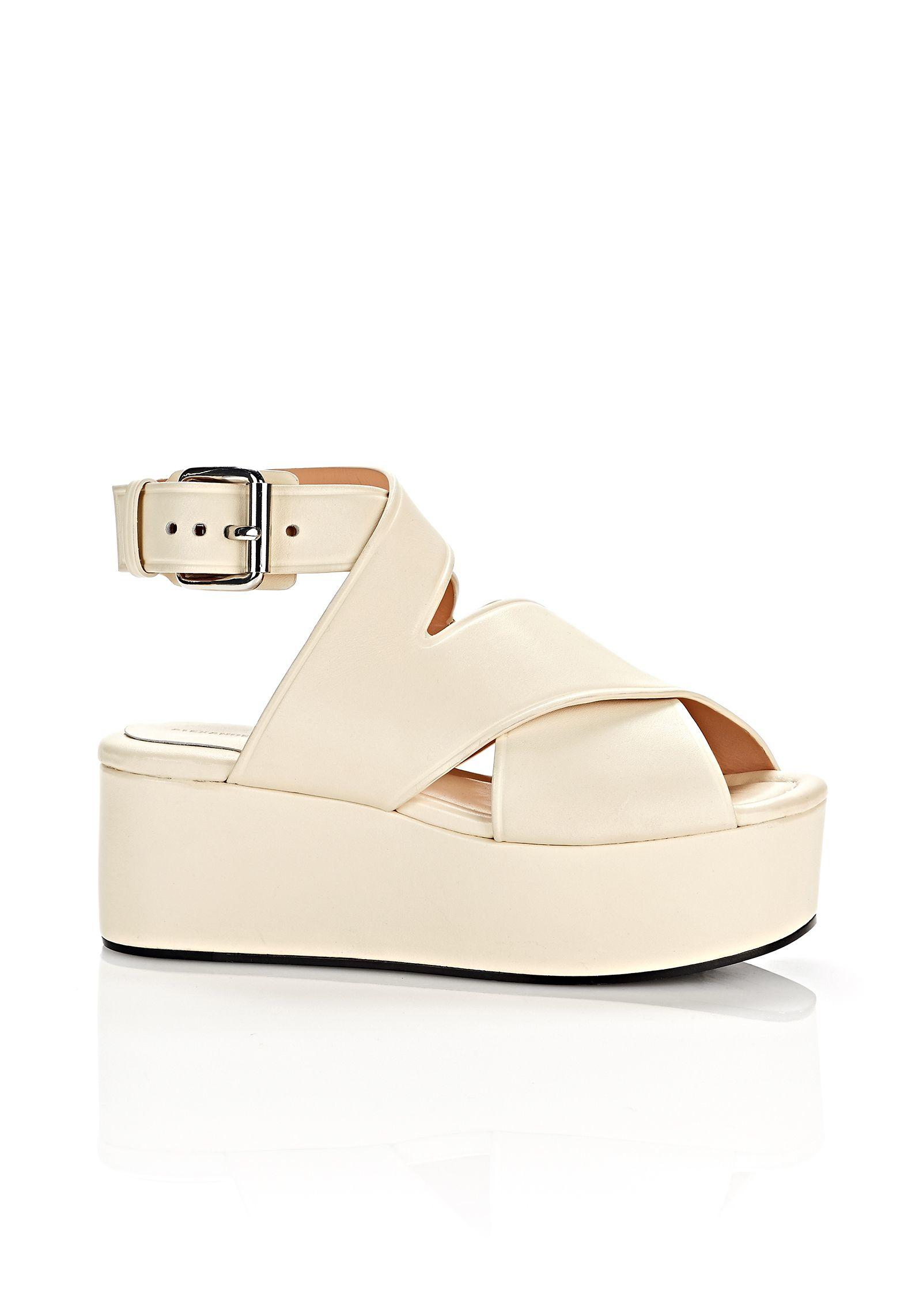 1495ce12563 Alexander Wang Rudy Flatform Sandals in Natural - Lyst