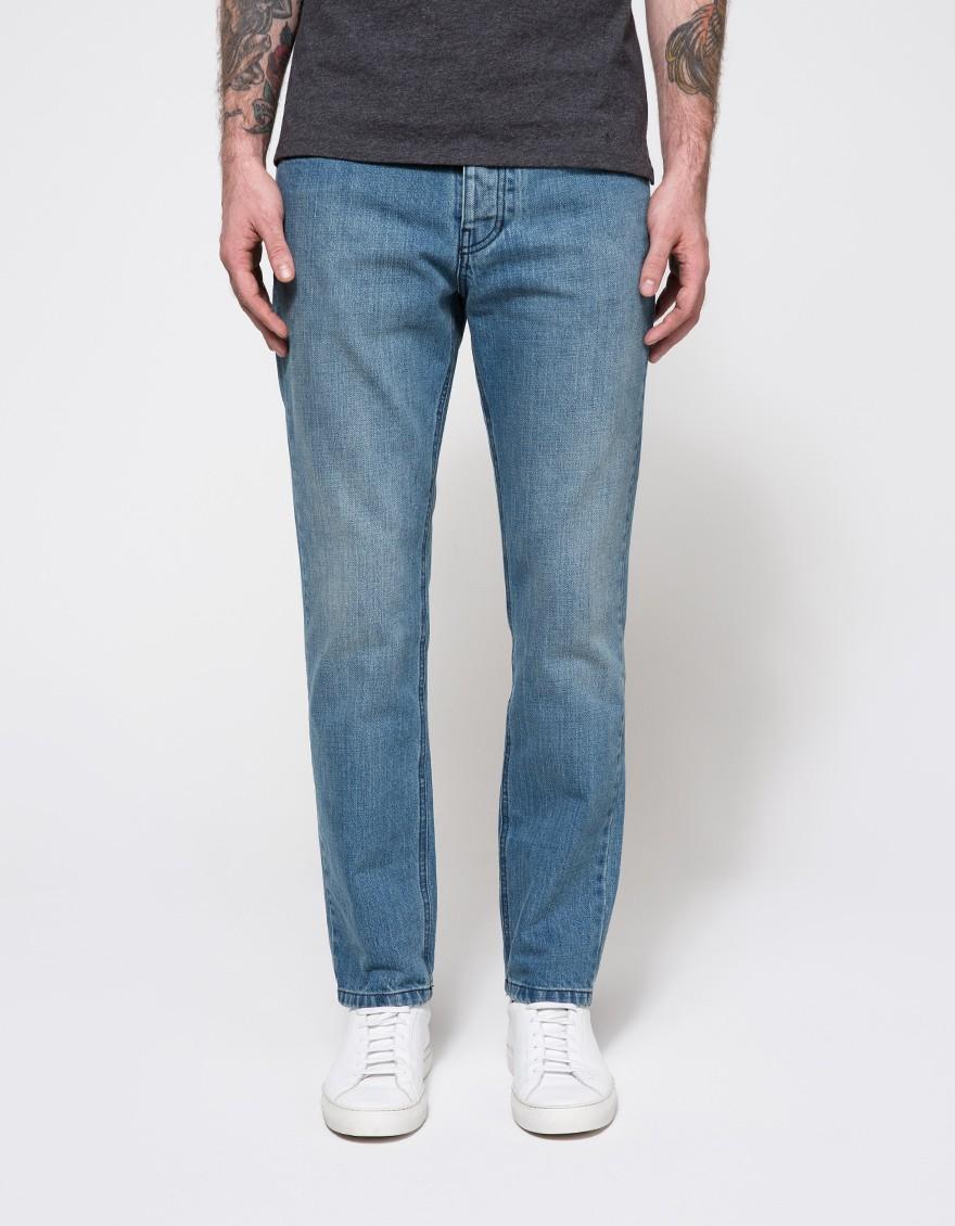 ami slim fit 5 pocket jeans in blue for men lyst. Black Bedroom Furniture Sets. Home Design Ideas