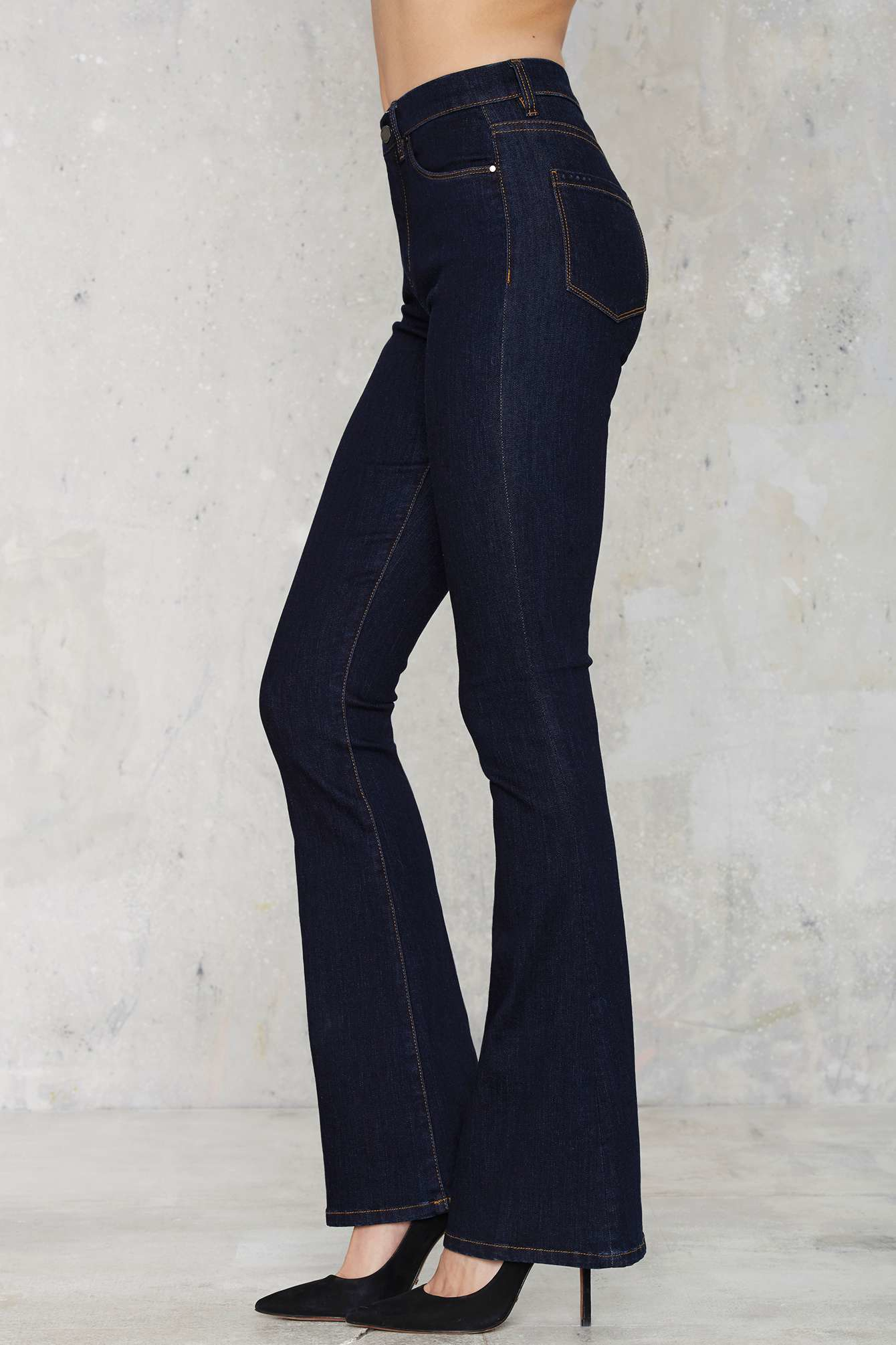 Blank Lies And Alibis Flare Jeans in Blue | Lyst
