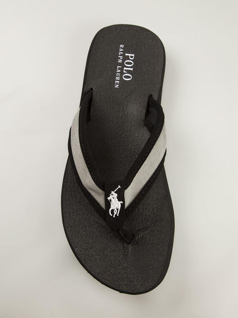 8585df48b55f Lyst - Polo Ralph Lauren  Almer  Flip Flops in Black for Men