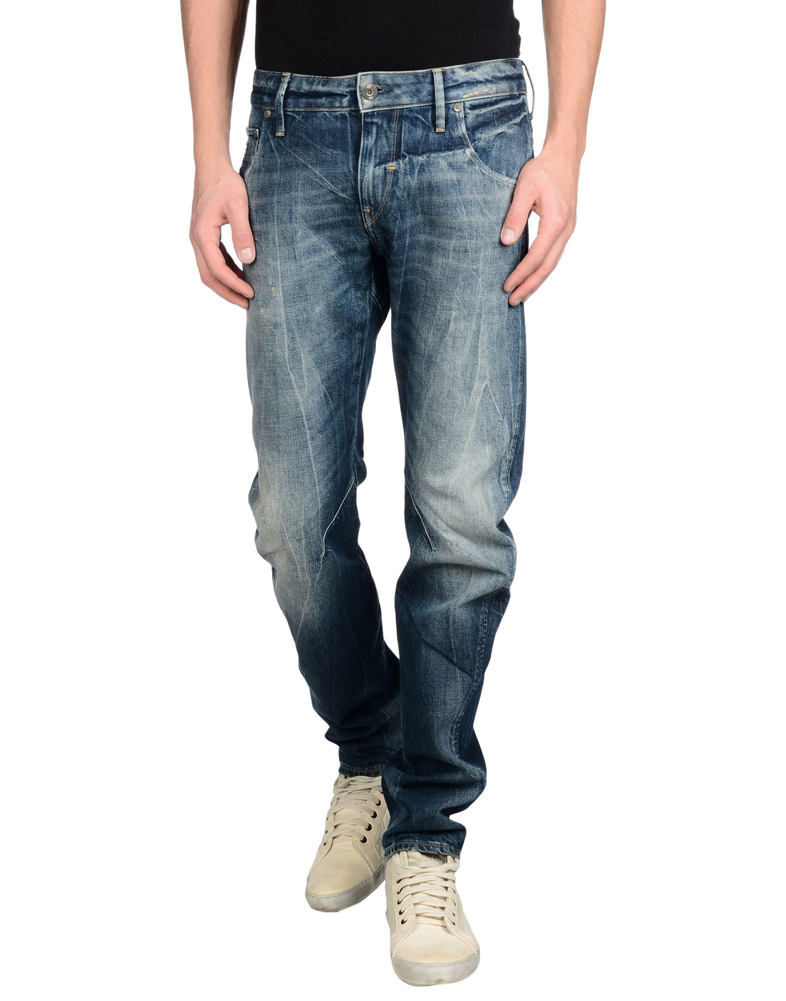g star raw denim trousers in blue for men save 45 lyst. Black Bedroom Furniture Sets. Home Design Ideas