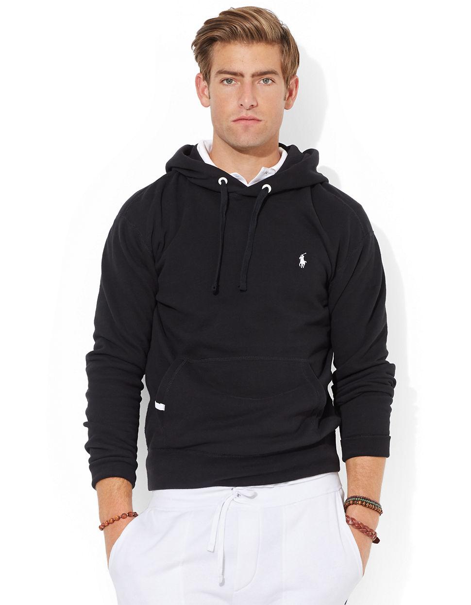 19003ee69 Polo Ralph Lauren Solid Fleece Hoodie in Black for Men - Lyst