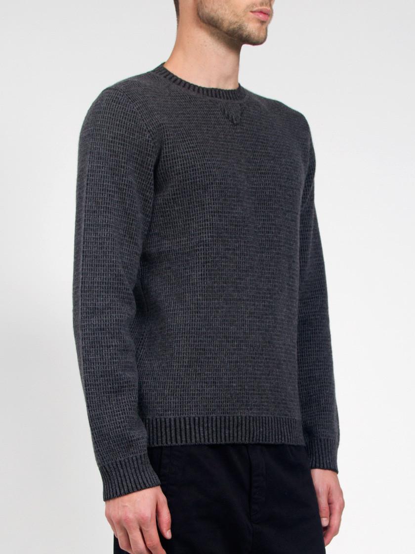 lucio castro winter odessa sweater in gray for lyst