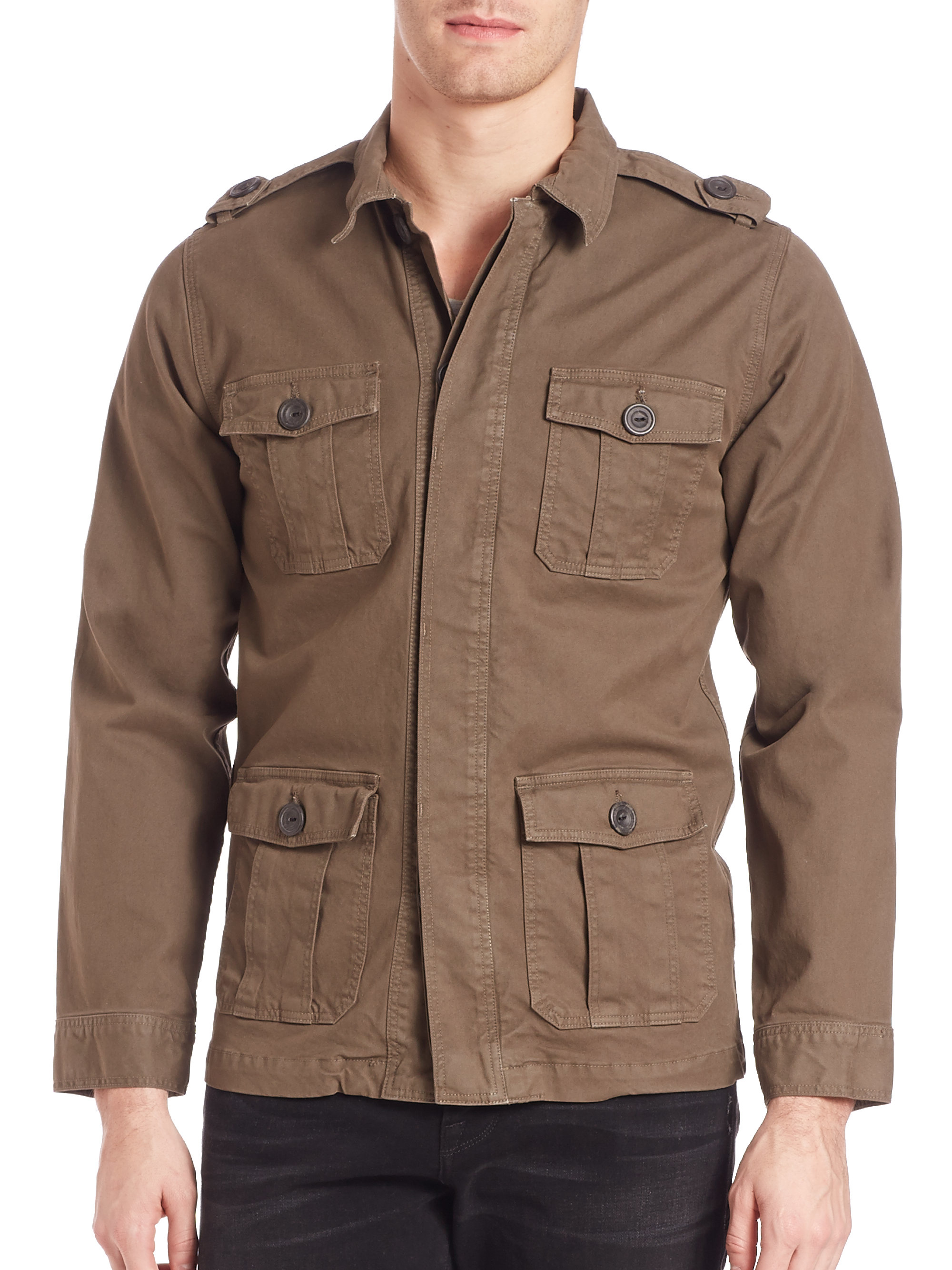 Frame L Homme Military Jacket In Green For Men Lyst