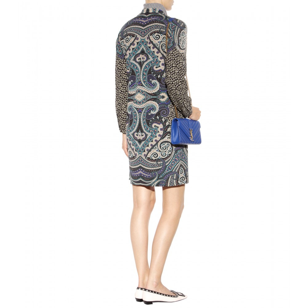 Printed wool dress Etro Buy Cheap Lowest Price VSkZNy4