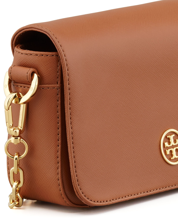 83b7b36009be Lyst - Tory Burch Robinson Mini Chain-strap Bag in Brown