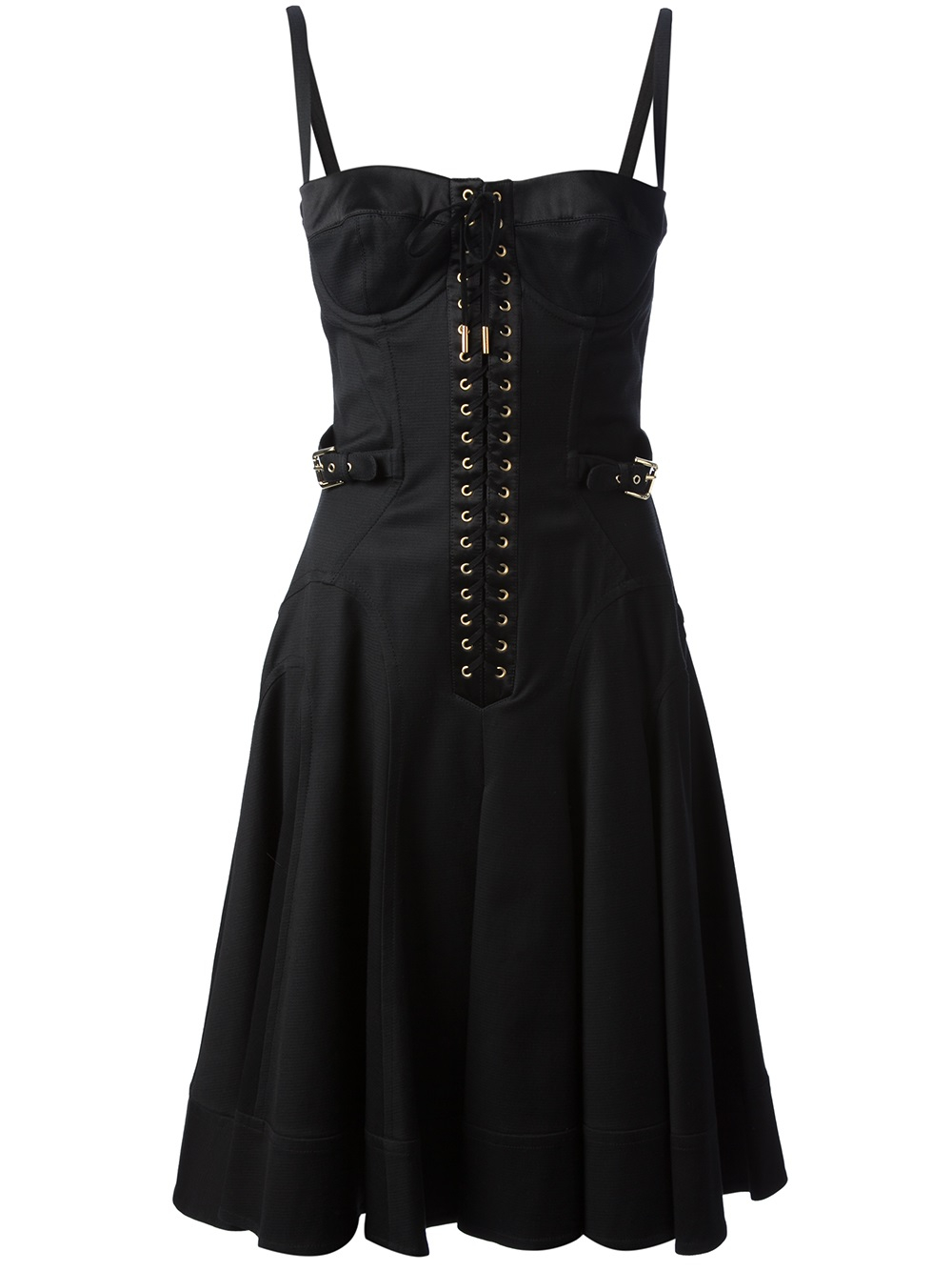 Dolce & Gabbana Vintage Corset Top Dress in Black | Lyst