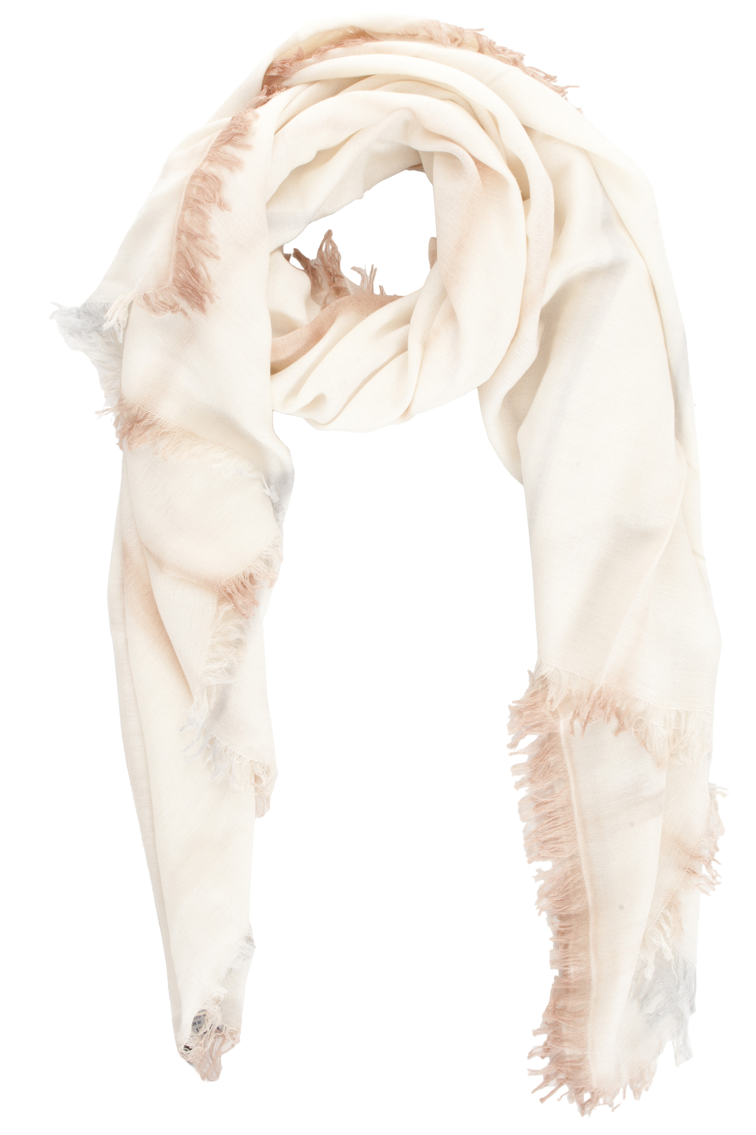 bajra wool scarf with tie dye in white lyst