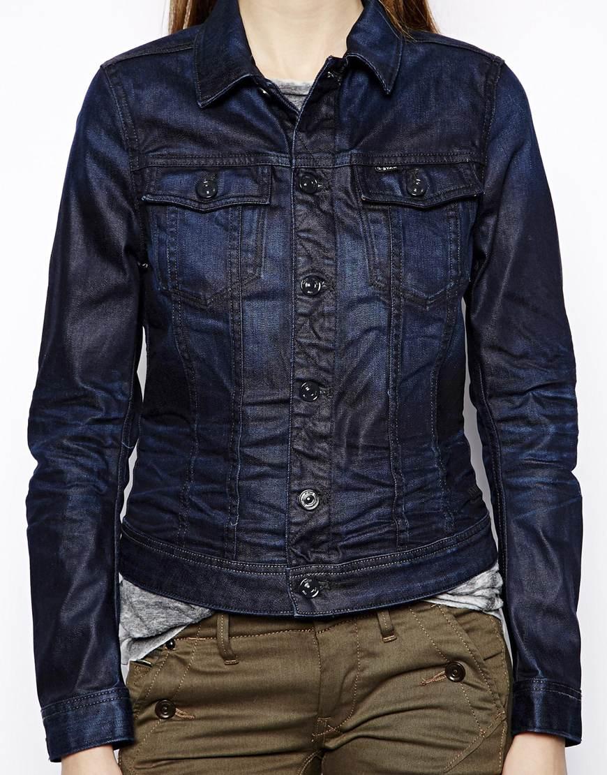 g star raw denim jacket in blue darkblue lyst. Black Bedroom Furniture Sets. Home Design Ideas