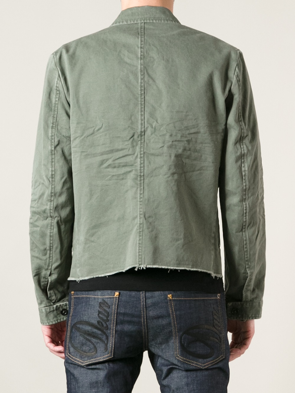 Dsquared² Denim Jacket in Green for Men | Lyst
